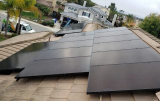 Solar Panels on Rooftop of Home in Oceanside
